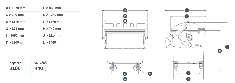 technicke-parametry-kontejner1100